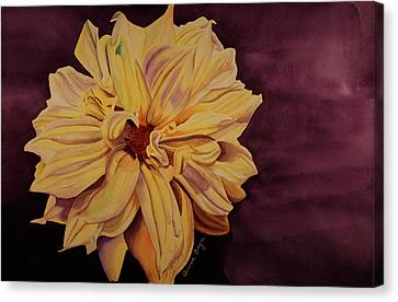 Canvas Print featuring the painting Dhalia by Teresa Beyer
