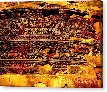 Dharma Inscription In Sarnath Canvas Print