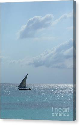Dhow Canvas Print by Alan Clifford