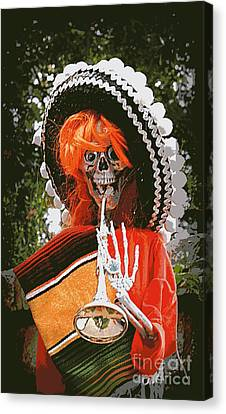 Dia De Los Muertos 1 Canvas Print by Renee Trenholm