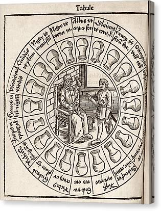 Diagnosis From Urine, 16th Century Canvas Print by Middle Temple Library