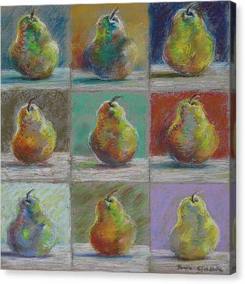 Pears Canvas Print by Bonnie Goedecke