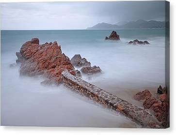 Diagonal Rocks Canvas Print by © Yannick Lefevre - Photography