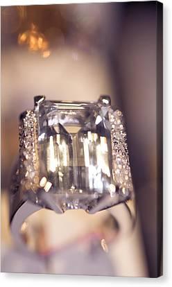 Diamond Ring. Spirit Of Treasure Canvas Print by Jenny Rainbow