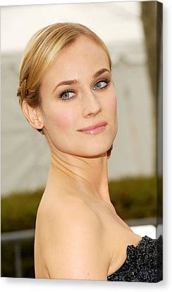 Metropolitan Opera House At Lincoln Center Canvas Print - Diane Kruger At Arrivals For The by Everett