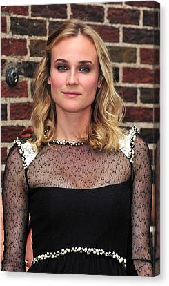 Diane Kruger Wearing A Chanel Dress Canvas Print by Everett
