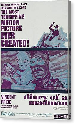 Diary Of A Madman, Right Of Center Canvas Print by Everett