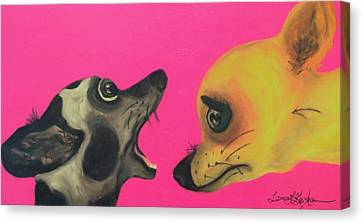 Did I Swallow A Bug Canvas Print by Laura  Grisham