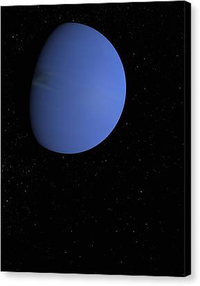 Digital Illustration Of Neptune Canvas Print by Jason Reed