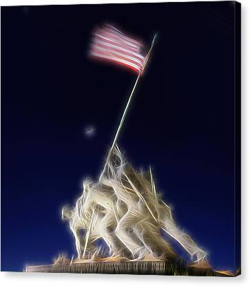 Soldiers Canvas Print - Digital Lightening - Iwo Jima Memorial by Metro DC Photography