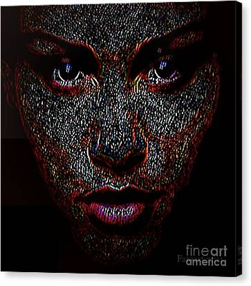 Digital Woman Inspired By A Real God Canvas Print by Fania Simon