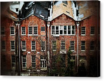 Canvas Print featuring the photograph Dilapidated Building On Poydras Street by Jim Albritton