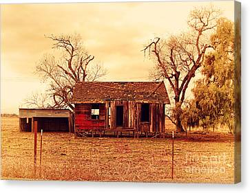Old Country Roads Canvas Print - Dilapidated Old Farm House . 7d10341 by Wingsdomain Art and Photography