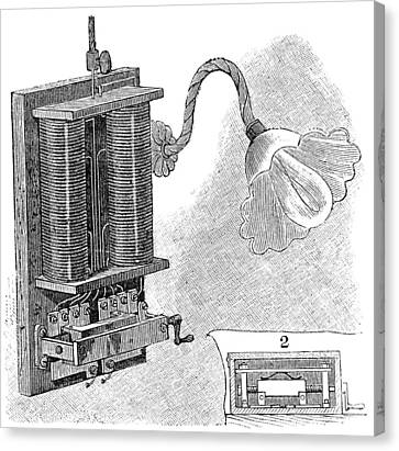Dimmer Lamp Electrics, 19th Century Canvas Print by