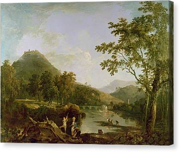 Dinas Bran From Llangollen Canvas Print by Richard Wilson