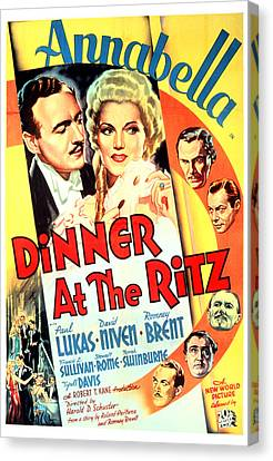 Dinner At The Ritz, David Niven Canvas Print by Everett