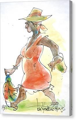 Haitian Canvas Print - Dinner by Carey Chen
