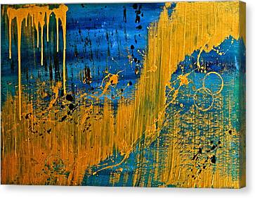Dipped In Gold Canvas Print