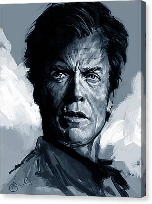 Kiran Kumar Canvas Print - Dirty Harry  - Clint Eastwood  by Kiran Kumar