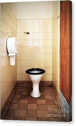 Dirty Public Toilet Canvas Print by Richard Thomas