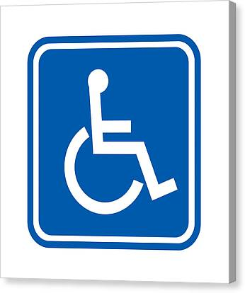 Disability Sign, Computer Artwork Canvas Print by