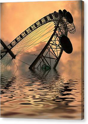 Disaster Canvas Print by Sharon Lisa Clarke