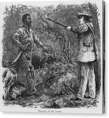 Discovery Of Nat Turner 1800-1831 Canvas Print by Everett