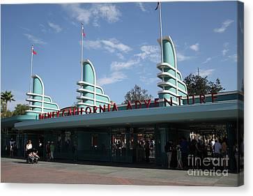 Disney California Adventure - Anaheim California - 5d17521 Canvas Print by Wingsdomain Art and Photography