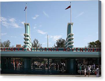 Disney California Adventure - Anaheim California - 5d17522 Canvas Print by Wingsdomain Art and Photography