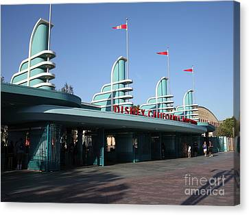 Disney California Adventure - Anaheim California - 5d17537 Canvas Print by Wingsdomain Art and Photography
