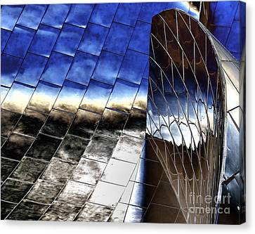 Disney Hall Architectural Canvas Print by Chuck Kuhn
