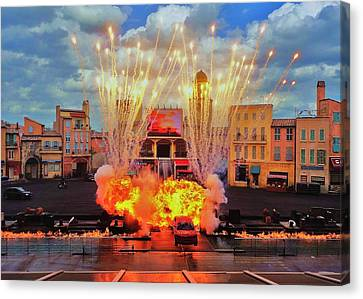 Disney Studios Excitement Canvas Print by Benjamin Yeager