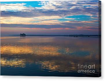 Distant Island Canvas Print by Susan Isakson