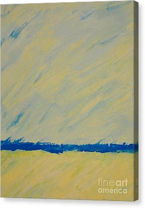 Distant Ocean Canvas Print by Barbara Tibbets