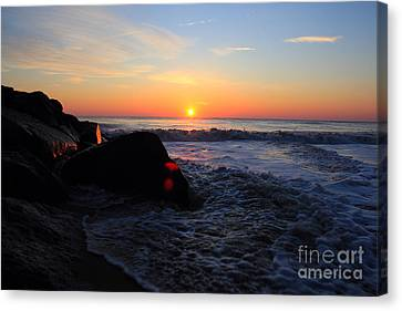 Canvas Print featuring the photograph Distant Shore by Everett Houser