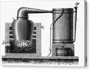 Distillation Apparatus, 18th Century Canvas Print by Cci Archives