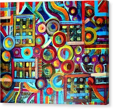 Disunited Clock Canvas Print by Aquira Kusume