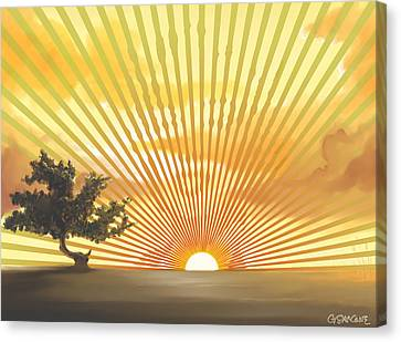 Diva's Sunset Canvas Print