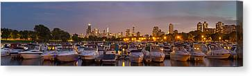Diversey Harbor And Chicago Skyline Canvas Print