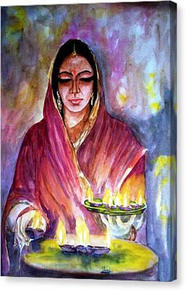 Diwali Canvas Print by Shashikanta Parida