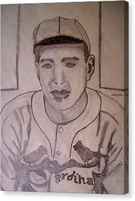 Dizzy Dean Cardinals Pitcher Canvas Print by De Beall