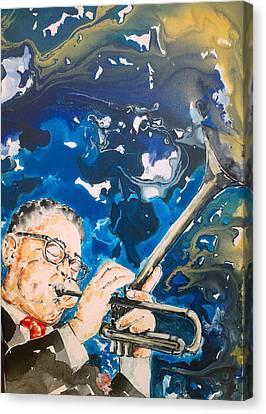Dizzy Gillespie Canvas Print by Omar Javier Correa