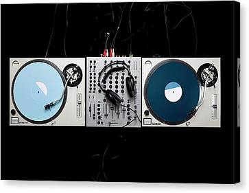 Dj Equipment Canvas Print by Caspar Benson