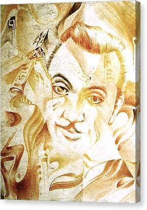 Django Reinhardt Canvas Print by Jaabi Faarai