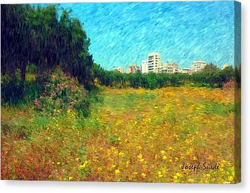 Canvas Print featuring the photograph Do-00479 Bois Des Pins - Impressionist by Digital Oil