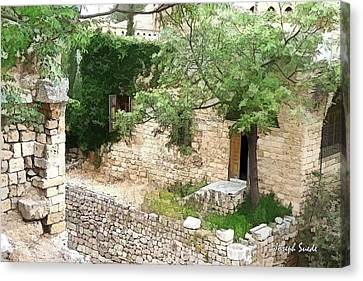 Canvas Print featuring the photograph Do-00486 Old House From Citadel by Digital Oil