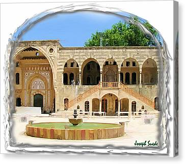 Canvas Print featuring the photograph Do-00522 Emir Bechir Palace by Digital Oil