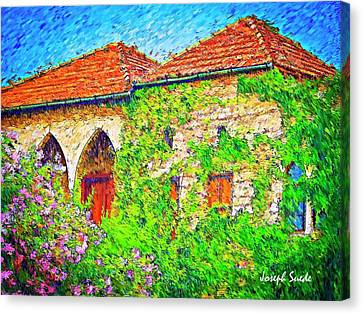 Canvas Print featuring the photograph Do-00530 Old House by Digital Oil