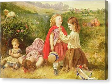 Do You Like Butter Canvas Print by Myles Birket Foster
