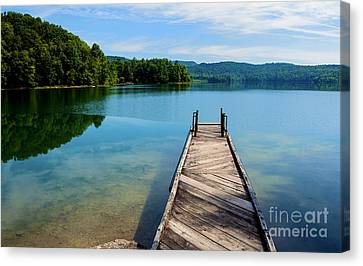 Nicholas County Canvas Print - Dock On Summersville Lake by Thomas R Fletcher